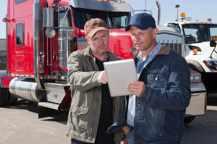 drivers using tablet